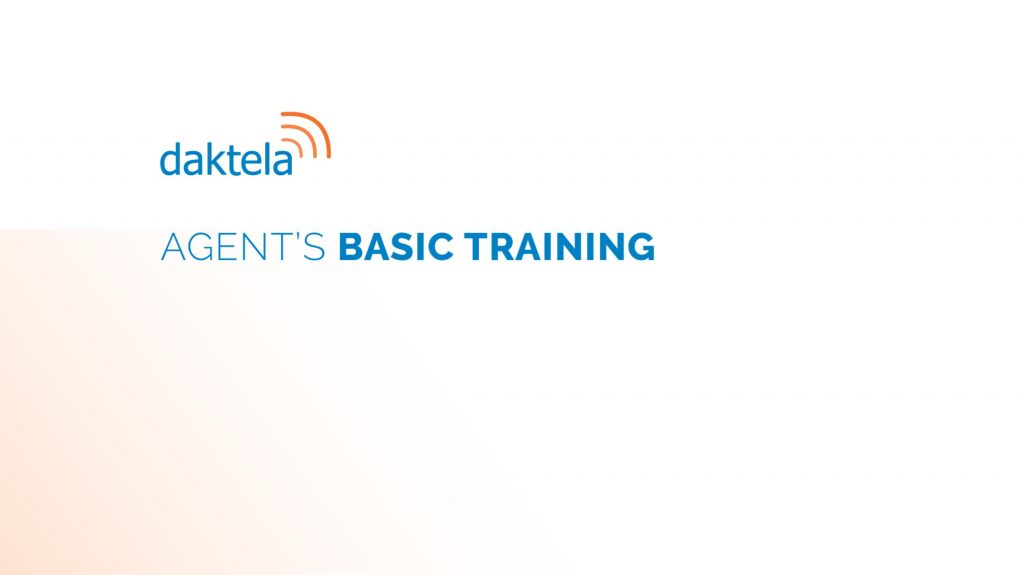 Daktela Academy Agents Training