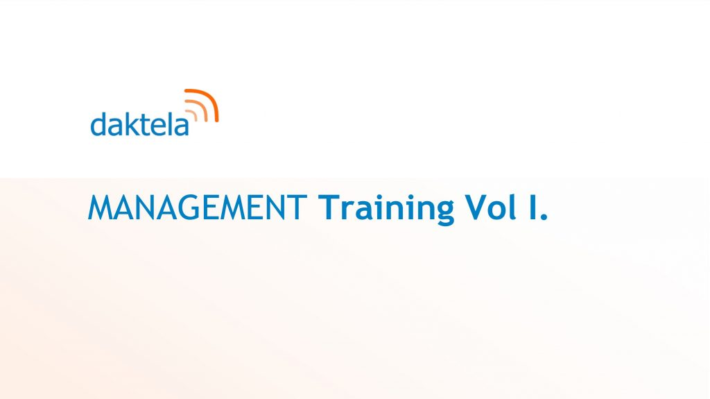 Daktela  Management Training